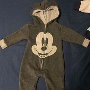 Disneys Mickey Mouse hooded jumpsuits size 0-3